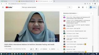 "FIKES UPNVJ Gelar Webinar Internasional  ""On Nutrition, Ramadhan Fasting, And Health Outcomes"""