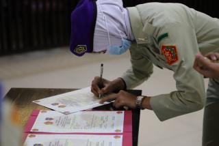 UPNVJ Gelar Serah Terima Jabatan Komandan Resimen Mahasiswa Periode 2021-2022.