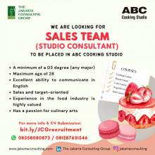 JOB OPPORTUNITY as SALES TEAM (Studio Consultant)