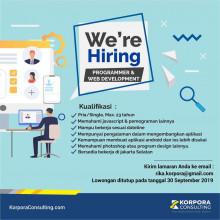 PT Korpora Trainindo Consultant Membuka Lowongan Kerja