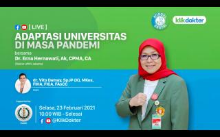 Live Streaming KlikDokter, Rektor UPNVJ Bahas Adaptasi Universitas di Masa Pandemi