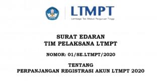 Perpanjangan Registrasi Akun LTMPT 2020