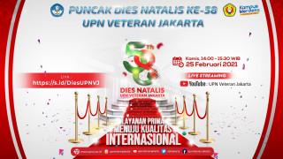 Puncak Perayaan Dies Natalis UPN Veteran Jakarta ke - 58