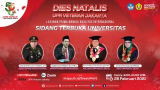 Rayakan Dies Natalis ke – 58, UPNVJ Gelar Sidang Terbuka Universitas Secara Daring