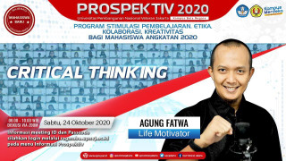 "Bahas ""Great Mindset for Critical Thingking"" Bersama Motivator Agung Fatwa"