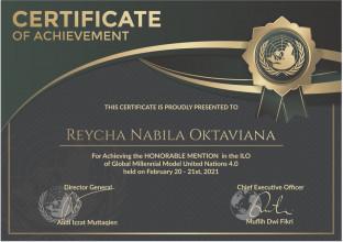 Mahasiswi FK UPNVJ Mendapatkan Penghargaan Pada Kompetisi Model United Nation 2021