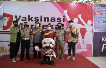 Sinergitas UPNVJ,Polres Metro Depok dan LPS Dalam Gerakan Vaksinasi Merdeka